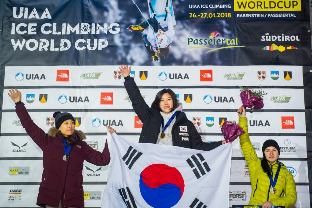 Woonseon Shin, Han Na Rai Song und Maria Tolokonina (c) Patrick Schwienbacher