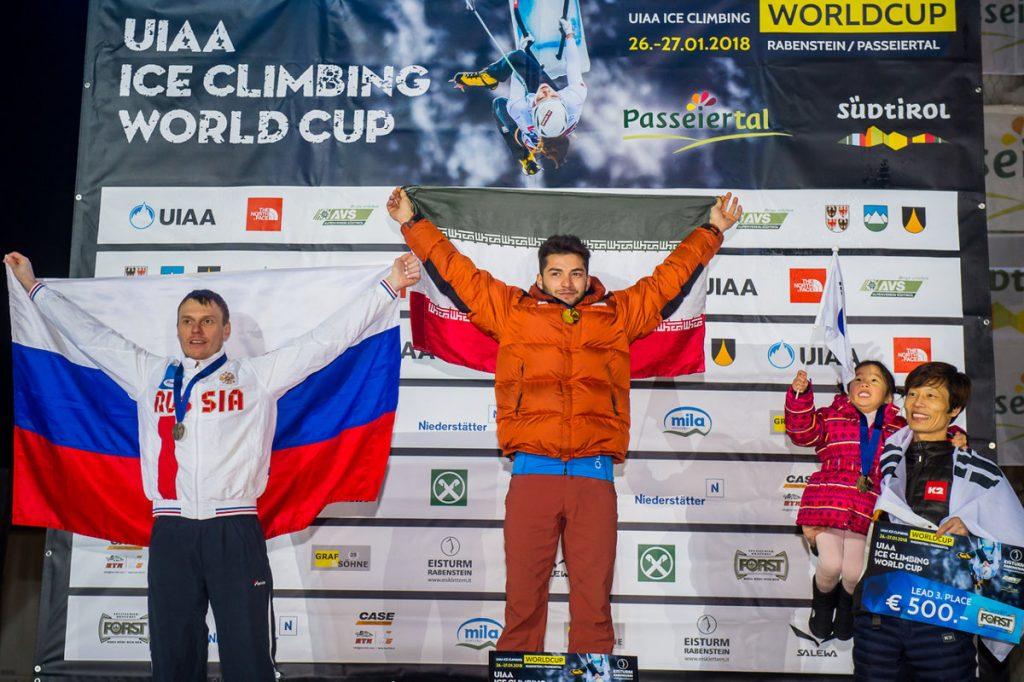 Alexey Tomilov, Mohammadreza Safdarian Korouyeh und YoungHye Kwon (c) Patrick Schwienbacher