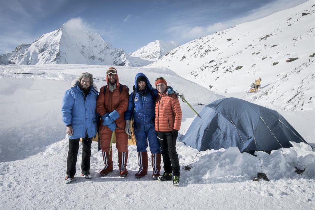 Reinhold Messner, Simon Messner, Peter Habeler, Philipp Brugger (c) ServusTV / Alexander Brus