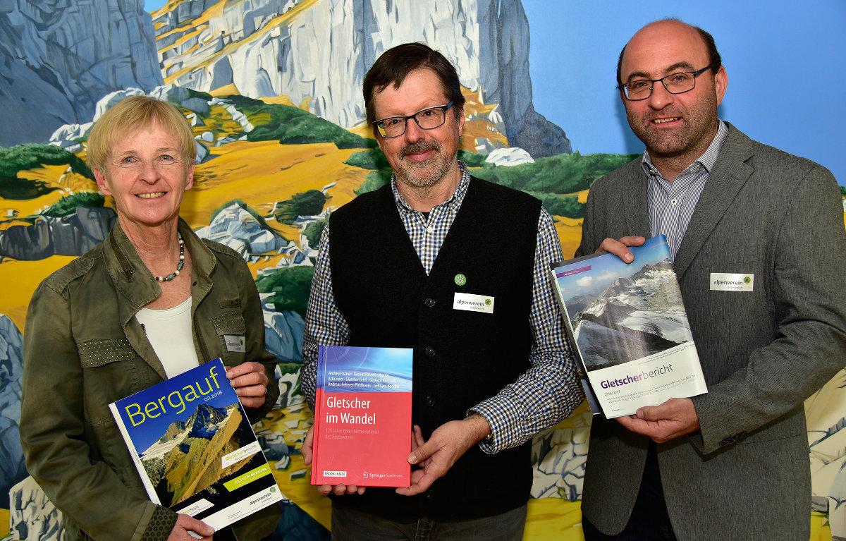 Dr. Ingrid Hayek, Dr. Gerhard Karl Lieb und Dr. Andreas Kellerer-Pirklbauer (c) ÖAV/G.Benedikter