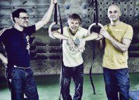 Patrick Matros, Alex Megos und Dicki Korb (c) Hannes Huch