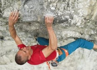 Steve McClure climbs Britain's hardest climb: Rainman 9b (c) teamBMC