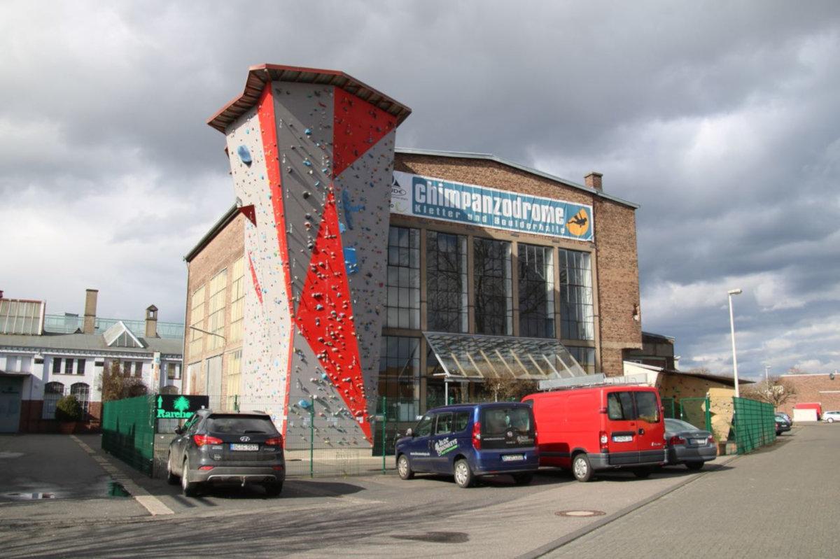 Kletterhalle Chimpanzodrome (c) Förderverein Klettersport in Frechen – Chimpanzodrome