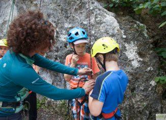 Kostenlose Young Climbers Schnupperkletterkurse in der Climbers City Innsbruck (c) Klaus Kranebitter