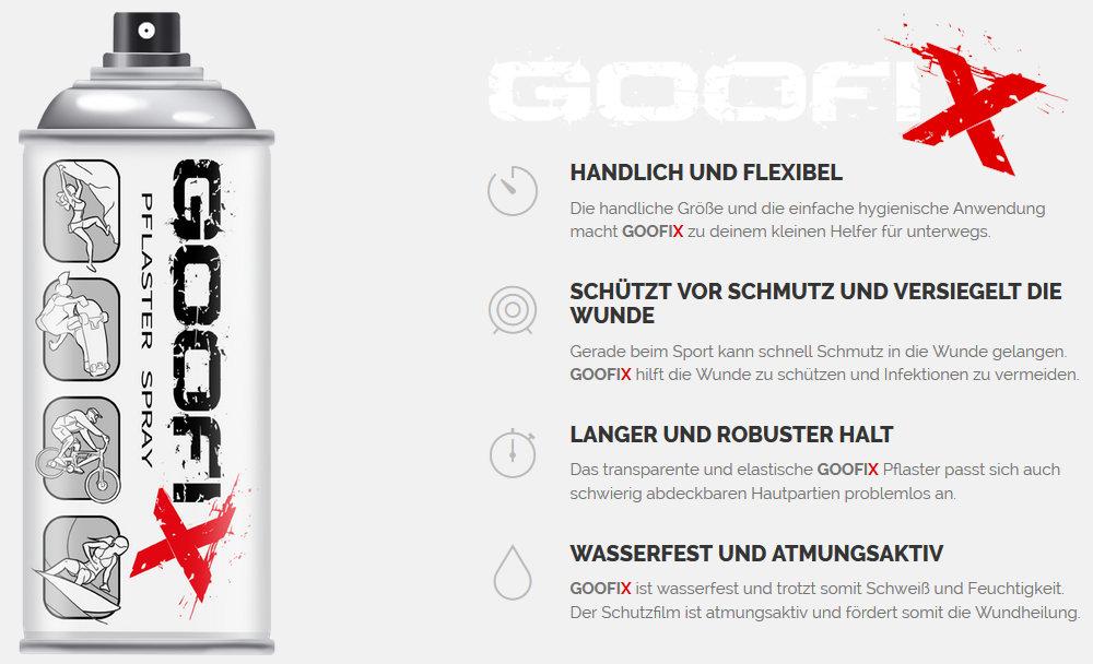 GOOFIX - Das neue Pflaster für den Actionsport (c) GOOFIX