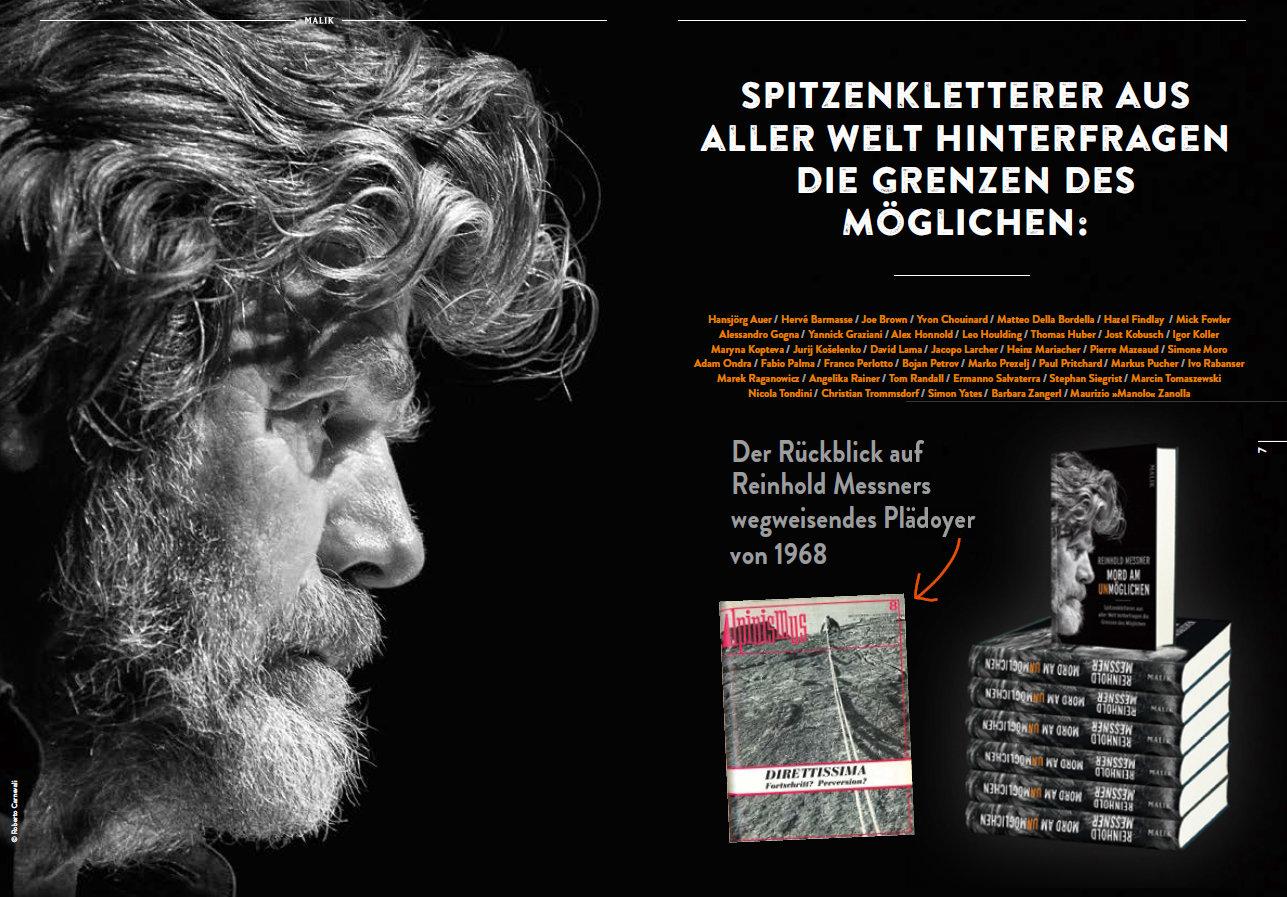 'Mord am Unmöglichen' von Reinhold Messner (c) Malik Verlag