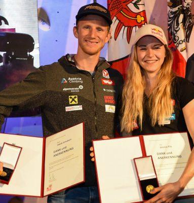 Jakob Schubert und Jessica Pilz (c) Erich Spiess