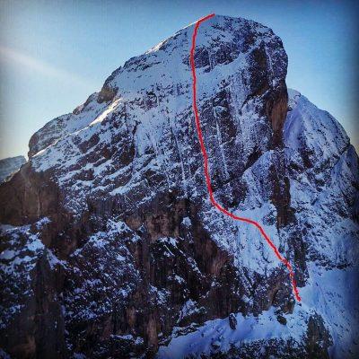 Die Route führt durch die Norwand des Peitlerkofel. (c) Simon Gietl